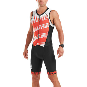 2XU Compression Full-Zip Trisuit Men black/white flame lines